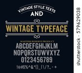 typeface. label. wintage... | Shutterstock .eps vector #579629038