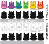 rainbow backpack set to find... | Shutterstock .eps vector #579629218
