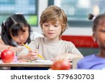 elementary classroom lesson. | Shutterstock . vector #579630703