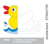 duck in vector to be traced ...   Shutterstock .eps vector #579631750