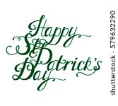 happy st. patrick's day ... | Shutterstock .eps vector #579632290