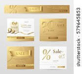 set of elegant sale banners... | Shutterstock .eps vector #579645853
