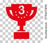 third prize cup icon. vector... | Shutterstock .eps vector #579647890