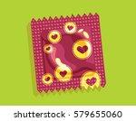 hearts condom package similar... | Shutterstock .eps vector #579655060
