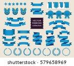 vector ribbon set. banner... | Shutterstock .eps vector #579658969