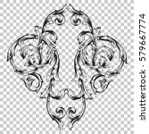 isolate vintage baroque... | Shutterstock .eps vector #579667774