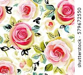 vintage roses seamless pattern... | Shutterstock .eps vector #579672550