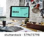ideas paper plane creative...   Shutterstock . vector #579673798