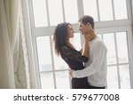 beautiful young couple having a ... | Shutterstock . vector #579677008