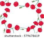 carnation mother's day... | Shutterstock .eps vector #579678619