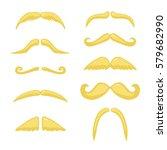 blond mustache. vector vintage...   Shutterstock .eps vector #579682990