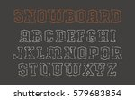 contour serif font in the style ... | Shutterstock .eps vector #579683854