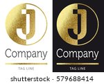 golden bright letter j logo