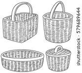vector set of wicker basket | Shutterstock .eps vector #579689644