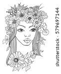 doodle illustration of... | Shutterstock .eps vector #579697144