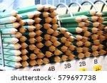 stacks of  pencils in office ...   Shutterstock . vector #579697738