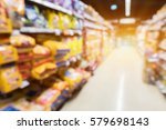 Stock photo blur image of pet food shop 579698143