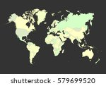 world map with countries... | Shutterstock .eps vector #579699520