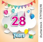 28 Years Birthday Design For...