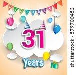 31 years birthday design for... | Shutterstock .eps vector #579700453