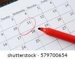 job interview reminder on... | Shutterstock . vector #579700654