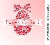 egg easter. vector illustration | Shutterstock .eps vector #579701050