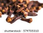 cloves dried on white background   Shutterstock . vector #579705310