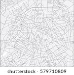 map of the paris | Shutterstock .eps vector #579710809