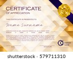 qualification certificate of... | Shutterstock .eps vector #579711310