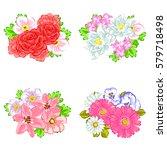 flower set | Shutterstock .eps vector #579718498