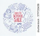 doodle back to school... | Shutterstock .eps vector #579720658