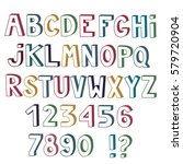 Set Of Cute Colored Letters An...