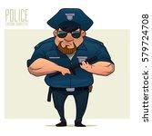 police officer  policeman ... | Shutterstock .eps vector #579724708