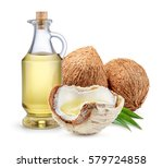 coconut. fresh young nuts with... | Shutterstock . vector #579724858
