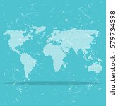 Grunge World Map For Web