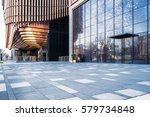 empty square front of modern... | Shutterstock . vector #579734848