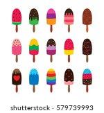 popsicle vector set  ice lolly...   Shutterstock .eps vector #579739993