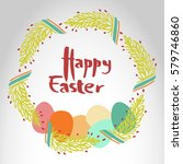 """""""happy easter"""" poster with... 