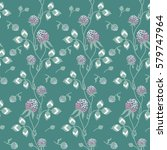 seamless pattern  meadow clover ... | Shutterstock .eps vector #579747964