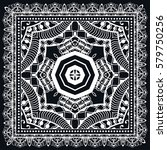 black and white abstract lace... | Shutterstock .eps vector #579750256