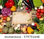 collection of mixed organic... | Shutterstock . vector #579751648