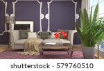 interior with sofa. 3d... | Shutterstock . vector #579760510