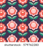 seamless retro pattern with... | Shutterstock .eps vector #579762283