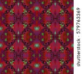 abstract geometric seamless... | Shutterstock . vector #579763369