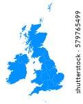 united kingdom blur map | Shutterstock .eps vector #579765499