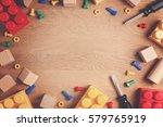 kids toys frame background.... | Shutterstock . vector #579765919