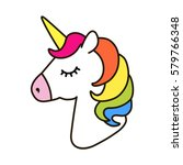 Unicorn Vector Icon Isolated O...