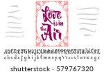 vector alphabet. calligraphic... | Shutterstock .eps vector #579767320