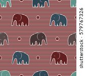 seamless pattern with stylized... | Shutterstock .eps vector #579767326