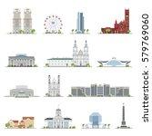 Set Of Minsk City Buildings ...